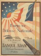 French WW1 poster - Emprunt de la Defense Nationale. On souscrit a la Banque Adam